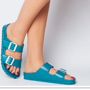 Birkenstock Eva turquoise sandals 39 8 narrow